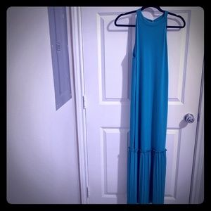 NWT ASOS Turquoise High Neck Maxi/Midi Dress US 6